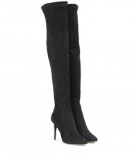 Jimmy Choo Toni Suede Over The Knee Boots Black