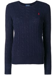 Polo Ralph Lauren Classic Cable Knit Sweater Blue