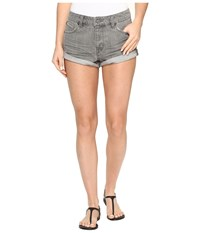 Volcom Stoned Shorts Rolled Grey Vintage Women's Shorts Gray