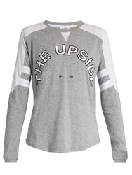 The Upside Abelle Long Sleeved Performance T Shirt Grey Multi