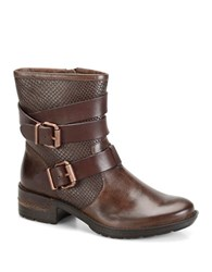 Sofft Aldina Leather Ankle Boots Brown