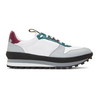 Givenchy White And Purple Tr3 Runner Sneakers