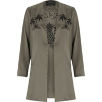 River Island Womens Khaki Green Paradise Duster Jacket