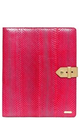 Hayden Harnett 'Mission' Genuine Snakeskin Tablet Organizer Pink Hot Pink Watersnake