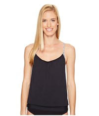 Carve Designs Sophia Tankini Black Sierra Women's Swimwear Beige