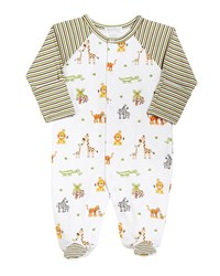Kissy Kissy Jolly Jungle Printed Footie Playsuit Size Newborn 9M Multi
