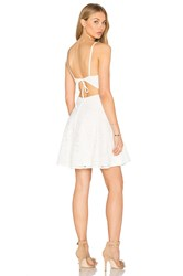 Oh My Love Lace Plunge Skater Dress White