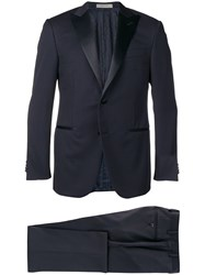 Corneliani Peaked Lapel Suit Blue