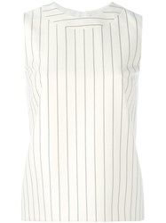 Victoria Beckham Striped Sleeveless Top Nude Neutrals