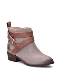 Splendid Holland Leather Belted Ankle Boots Dark Stone