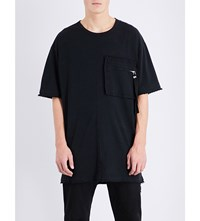 Blood Brother Zip Patch Pocket Cotton Jersey T Shirt Black