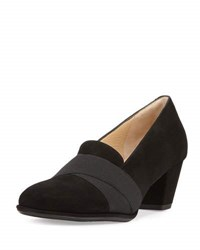 Amalfi By Rangoni Principe Mid Heel Loafer Pump Black
