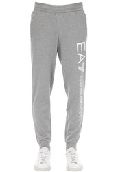 Emporio Armani Train Logo Cotton Sweatpants Grey