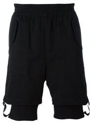 Helmut Lang Layered Cuff Shorts Black