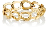 Mahnaz Collection Vintage Women's Horseshoe Link Bracelet Gold