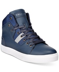 Sean John Procida Hi Top Sneakers Men's Shoes Navy Silver
