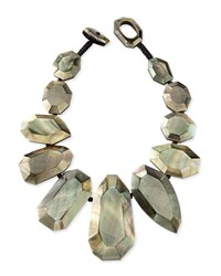 Black Lip Mother Of Pearl Statement Necklace Viktoria Hayman