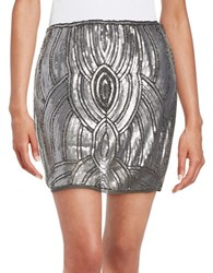 Romeo And Juliet Couture Sequined Mini Skirt