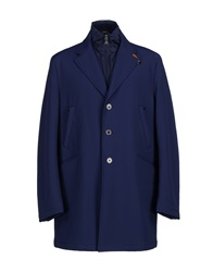 Piero Guidi Full Length Jackets Dark Blue