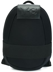 Y 3 Logo Patch Backpack Blue
