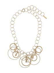 Marni Hoop Necklace Gold