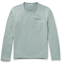 Descente S.I.O Sli Fit Fleece Sweatshirt Gray Green