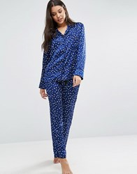 Bluebella Celeste Star Pyjama Set Navy Blue