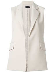 Theory 'Sedeia' Sleeveless Blazer Nude And Neutrals