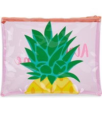 Sunnylife Pineapple Beach Pouch Pink