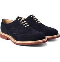 Church's Downton Suede Wingtip Oxford Brogues Blue