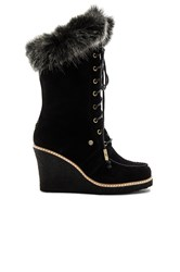 Australia Luxe Collective Mandinka Boot With Faux Fur Cuff Black