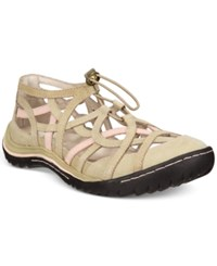 Jambu Women's Roman Adjustable Flats Women's Shoes Taupe Dusted Rose