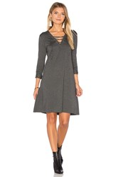 Candc California Hadley Dress Charcoal