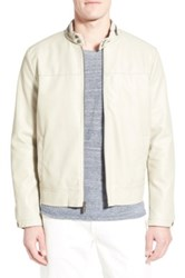 Kenneth Cole Black Label Hipster Faux Leather Jacket White