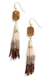 Panacea Women's Drusy Tassel Drop Earrings