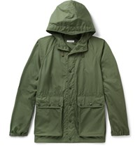 Engineered Garments Canvas Hooded Parka Army Green