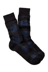 1901 Blocks Cushioned Sole Over The Calf Socks Blue