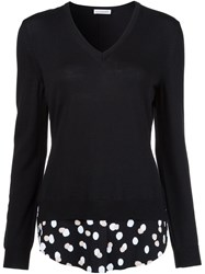 Altuzarra Polka Dot Detail Jumper Black