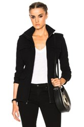 James Perse Fitted Field Jacket In Black