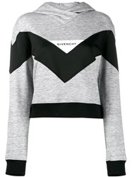 Givenchy Colour Block Hoodie Grey