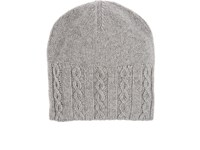 Inis Meain Men's Merino Wool Beanie Light Grey