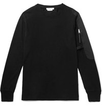 Alyx Sling Faille Panelled Cotton Jersey Sweatshirt Black