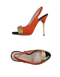 Jean Michel Cazabat Footwear Sandals Women Orange