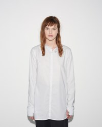 Y 3 Button Shirt Crystal White