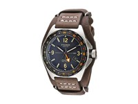 Filson Journeyman Gmt Watch 44 Mm Stainless Steel Horween Leather Watches Black