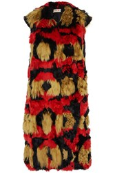 Marni Alpaca And Wool Blend Gilet Red
