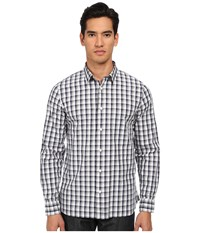 Jack Spade Clermont Ombre Plaid Shirt Navy Men's Long Sleeve Button Up