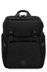 Knomo Fulham Thurloe Waxed Canvas Backpack With Rfid Pocket Black