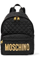Moschino Faux Leather Trimmed Quilted Shell Backpack