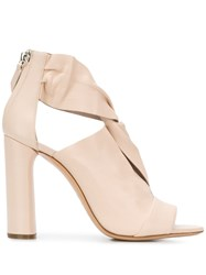 Casadei Peep Toe Sandals Neutrals